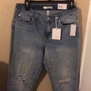 Lauren Conrad mid rise slim straight jeans